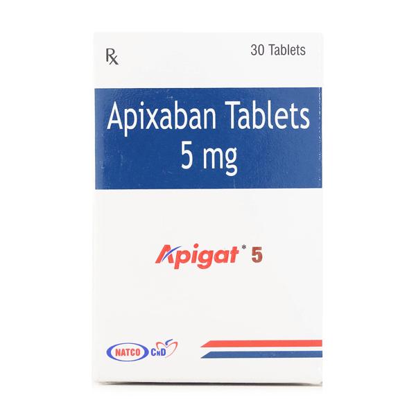 Apigat 5 mg Apixaban Cost India